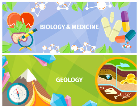 Biology, Medicine and Geology Themed Bright Poster