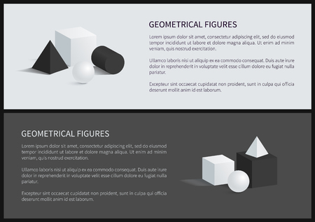 Geometrical Figures and Text Vector Illustration