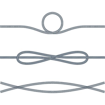 Rope Used in Sea Adventures Vector Illustration Ilustração