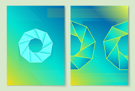 Precious Stone Poster Set Vector Illustration Illustration