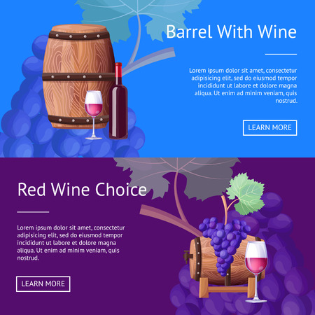 Barrel with Red Wine and Choice Internet Pages