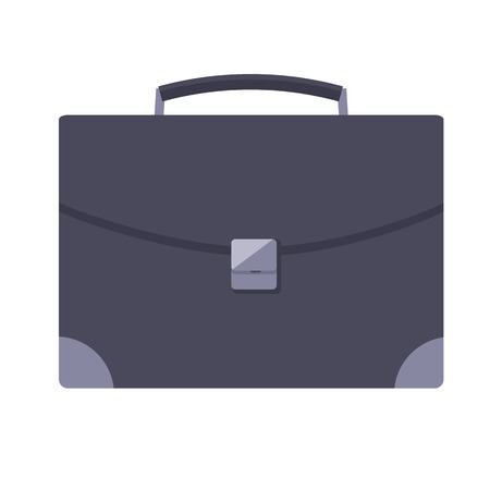 Leather Briefcase with Metal Lock, Businessman Bag