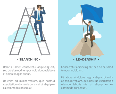 Searching and Leadership on Vector Illustration Ilustrace