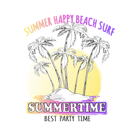 Best Time for Summer Parties Graphic Illustration