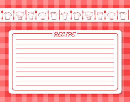 Decorative Card with Lines for Recipe Placement
