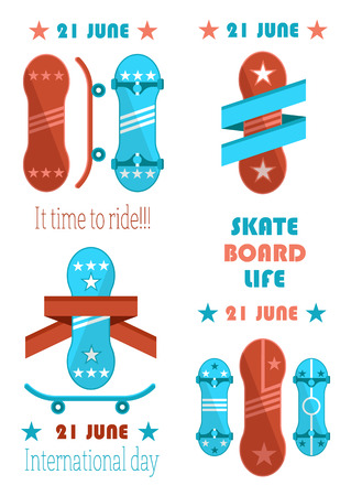 21 June Skate Board Life, it Time to Ride Banner