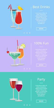 Best Drink Make Party 100 Fun Vector Illustration Ilustrace