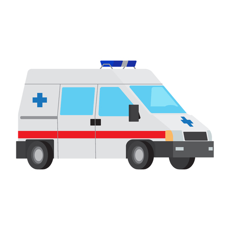 Ambulance Car Flat Vector Isolated Icon 스톡 콘텐츠 - 103990442