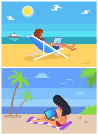Freelancer Summer Collection Vector Illustration