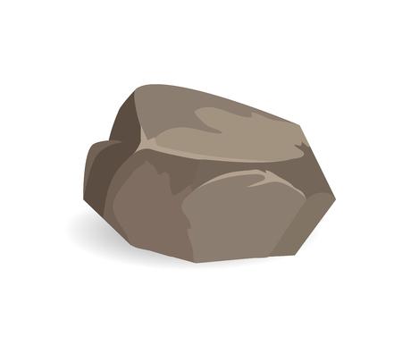 Stone of Brown Color Poster Vector Illustration Reklamní fotografie - 104041035