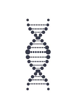 DNA Deoxyribonucleic Acid Chain Logo Design Icon