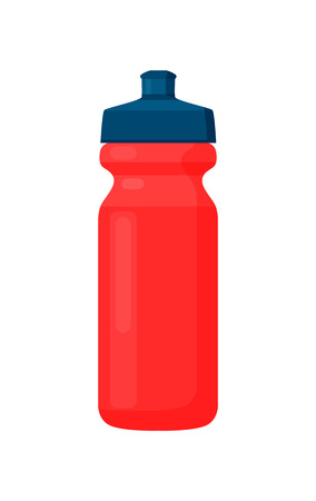 Fitness Bottle, Red Container with Black Cover