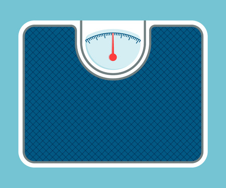 Weigh Scales Model Isolated on Blue Background