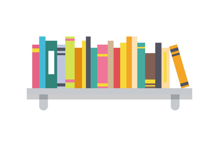 Book Shelf Template, Color Vector Illustration