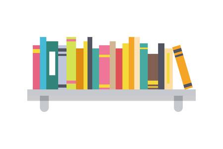 Plantilla de estante de libro, ilustración de Vector de color