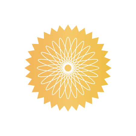 Filigrane en forme de fleur à placer sur les documents. Certificat graphique pour prouver l'authenticité. Illustration de vecteur de dessin animé isolé filigrane simple.