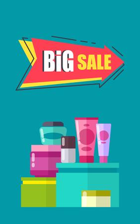 Big Sale Advertising Card Vector Illustration Illustration