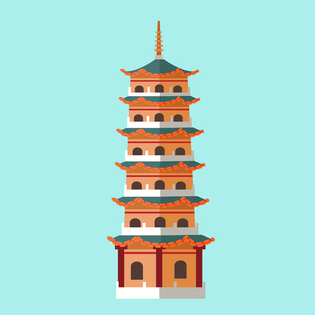 National Architecture in Taiwan Hand Drawn Icon Çizim