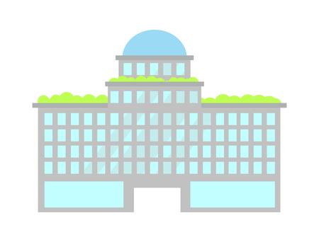 Building of Modern City Poster Vector Illustration