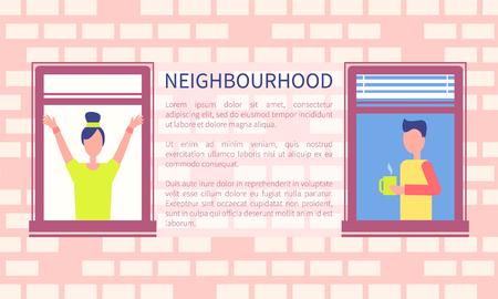 Neighbourhood Poster Copy Space Text Brick Wall