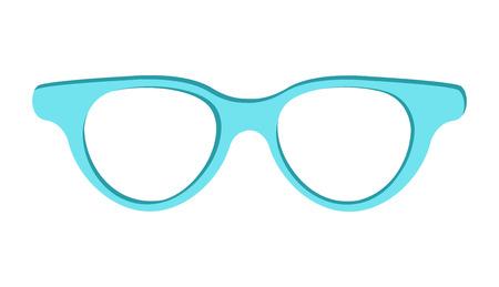 Blue sunglasses icon vector illustration isolated on white background. Eye protective object from sunlight, stylish accessory logotype design Logo