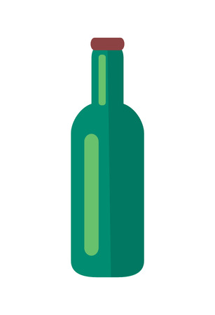 Glass Bottle of Beer Isolated Illustration Фото со стока - 104454917