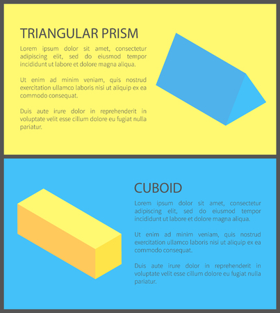 Triangular Prism and Cuboid Geometric Collection
