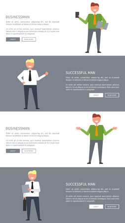 Businessman and Successful Man Posters with Text Reklamní fotografie - 104455976