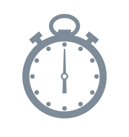 Timer and time grey object, timer used in sport activities and exercise, planning and organizing of sportive lifestyle isolated on vector illustration