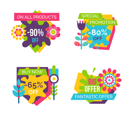 All Products Total Absolute Final Sale Labels Set Illustration