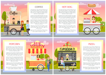 Pizza Popcorn Coffee and Hot Dog Shops Collection