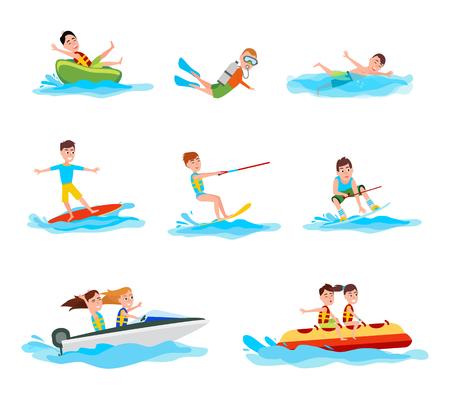 Summer Activity Collection Illustration