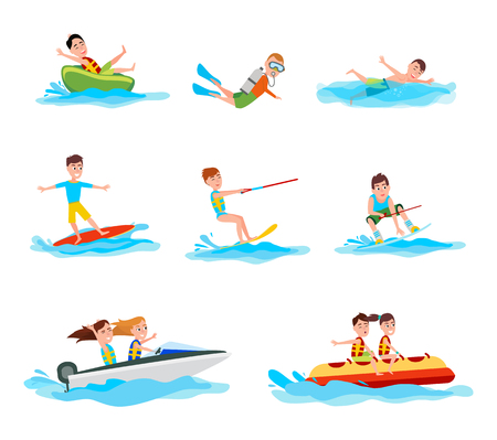 Summer Activity Collection Illustration Stock Illustration - 104716586
