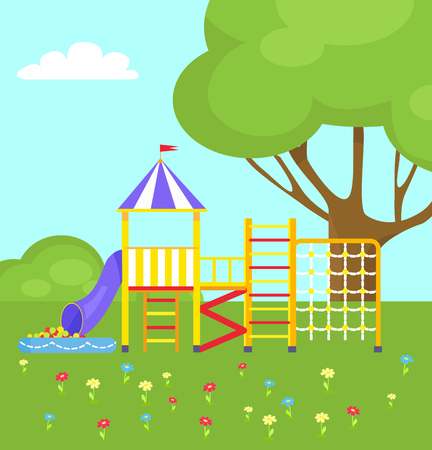 Playground for Kids with Different Ladders
