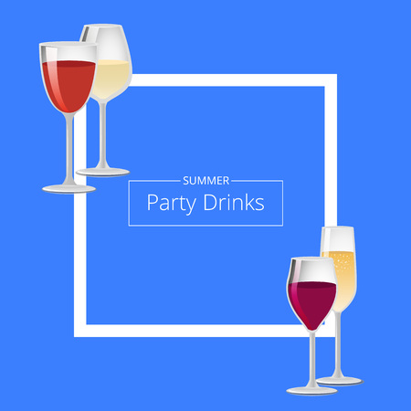 Summer Party Drinks Color Stock Photo