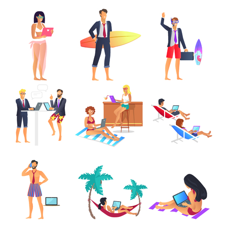Business Summer People Set