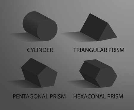 Cylinder Triangular Pentagonal and Hexagonal Prism