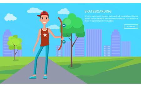 Skateboarding Online Poster Young Skateboarder Web