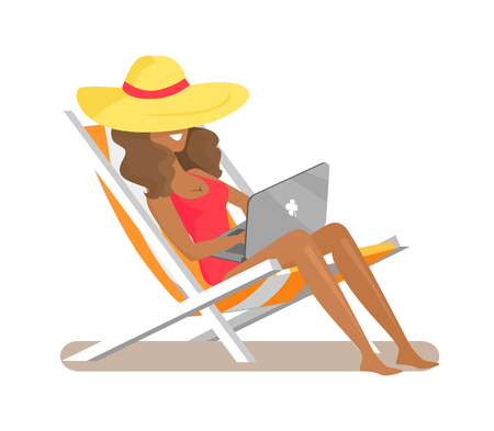 Freelance and Relaxation, Vector Illustration