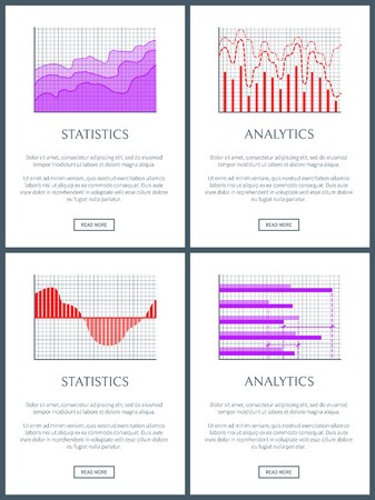 Statistics and Analytics Graphs of Lines and Bars Stok Fotoğraf