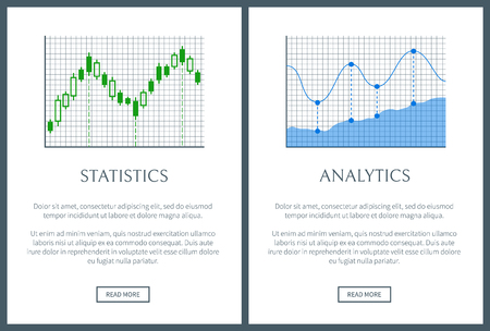 Statistics and Analysis Two Bright Info Posters