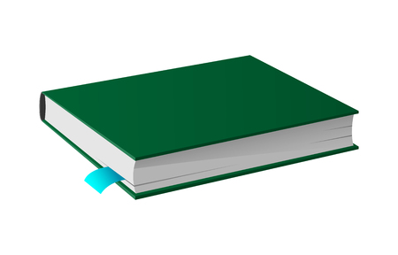 Book in Hardcover Isolated Icon Stock Photo