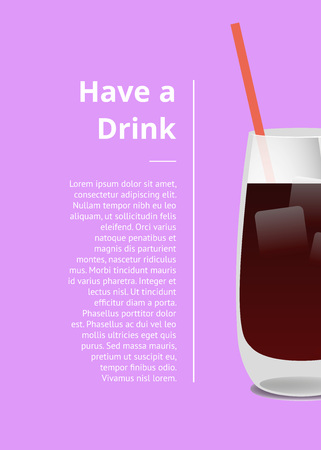 Have Drink Summer Party Promo Poster with Cocktail
