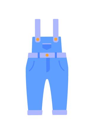 Romper Suit of Jeans Poster Vector Illustration Reklamní fotografie