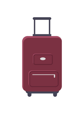 Luggage Standing Isolated Vector Illustration