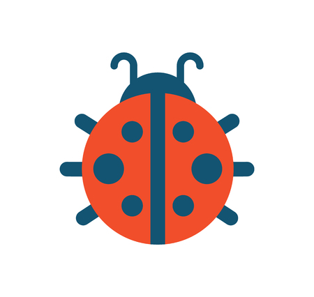 Ladybug with Dots Creature Vector Illustration