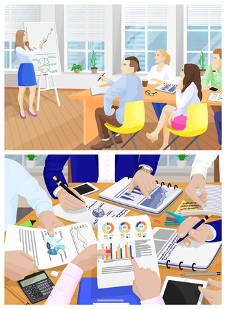 Business Meeting Collection Vector Illustration