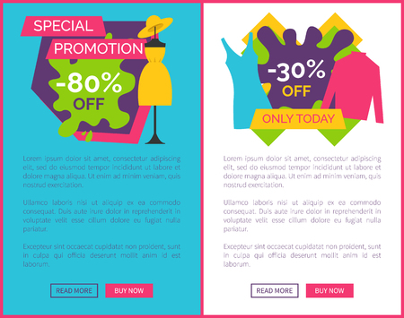 Best price for exclusive products dress dummy and sweater. Convenient price promotion with gown on mannequin. Premium sale vector web pages online