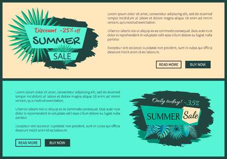 Discount 25 and 45 Percent Summer Sale Promotion