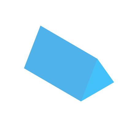 Triangular Prism, Vertical Geometric Figure Banner Illustration